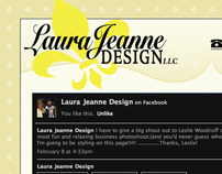 Laura Jeanne Design Marketing Page