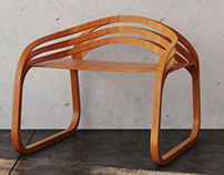 Modern Plywood Chair 3D Model