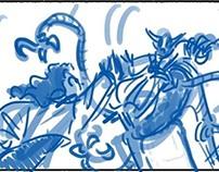 Galaxy thumbnail sketches