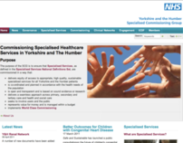 Yorkshire and the Humber SCG web site