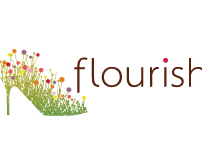 Flourish Logo <br> Brand of Sustainable Shoe