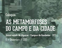 "Cartaz - ""As Metamorfoses do Campo e da Cidade"""