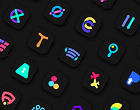 Minimal App Icons - Dark Version