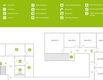 Mapa de diseño de  orientación gráfica