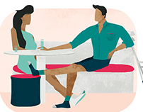 Positively healthy | Editorial illustrations