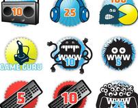 Custom Illustrated Badge Set