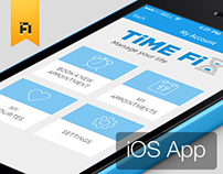 iOS 7 Design for TimeFix by Vinfotech