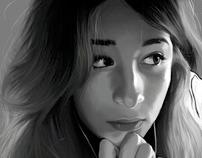 Digital Self Portrait in Black & White