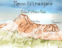 "Mt. Kilimanjaro Illustration for film ""1 Revolution"""