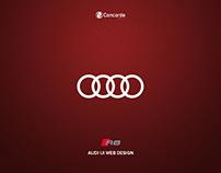 AUDI R8 UI WEB DESIGN