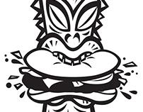 Tiki Burger Logo