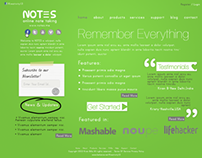 Notes Website Design