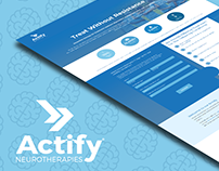 Actify Neurotherapies Google Ads Landing Page