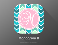Flat iOS7 Monogram App icon