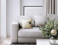 Scandinavian cosy living room
