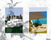 Greek Islands Postcards