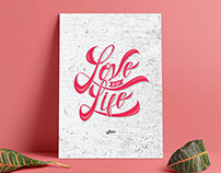 Love of my life - lettering
