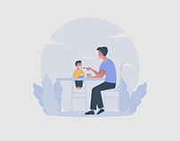 Father Illustration 03