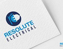 Resolute Electrical Logo Design