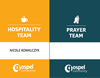 Gospel Community Church - Volunteer Lanyards