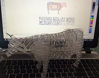 laser cut COW