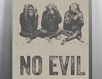 Wise Monkeys | Monochrome Print