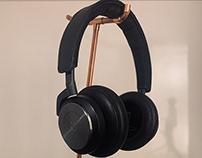 Steampunk headphone stand