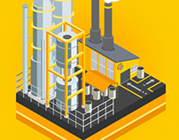Isometric illustration. Factory
