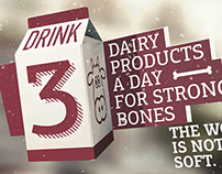 Drink dairy products for stronger bones