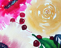 Watercolor floral, custom made cards