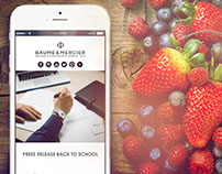 Back to School by Baume et Mercier - PressKit