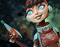 Space girl in 3D for Liberum Donum