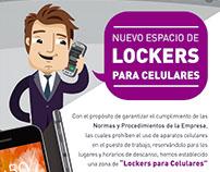 Comunicación Interna + Lockers para celulares