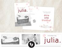 Geboortekaartje Anna Julia