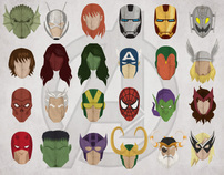 Avengers headshots - Project Magazine