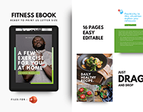 Daily gym at home during a pandemic ebook template