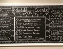 Chalkboard for Artspace Collector's Gala