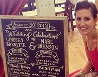 The Johnson Wedding chalkboard