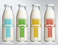 Two Creeks Organic Dairy (Branding/Product Label)