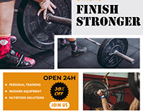 Gym body fitness social media design