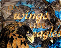 On Wings Like Eagles - Paper Art