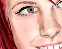 Hayley Williams digital painting