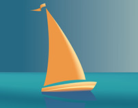 Deco Ship Illustration