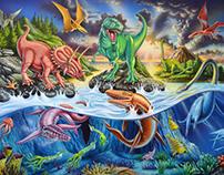 land sea and air dinosaurs