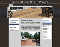 Stumps Quality Decks website
