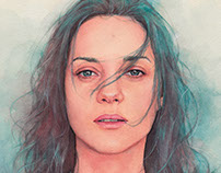 Marion Cotillard watercolor
