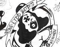 One-Eyed Betty's Bar + Kitchen logo