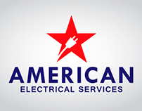 American Electrical Services Logo Design