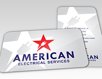 American Electrical Services Business Card Design