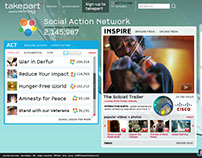 takepart website design - social action network